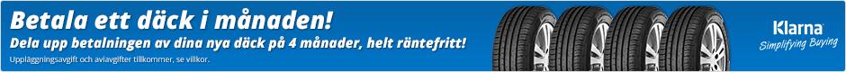 Betala ett däck i månaden! Dela upp betalningen av dina nya däck på 4 månader, helt räntefritt!