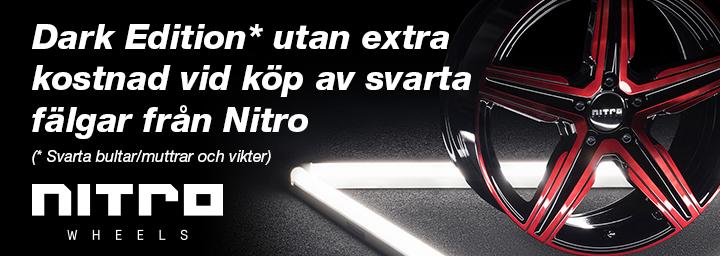 Dark Edition utan extra kostnad vid köp av svarta fälgar från Nitro