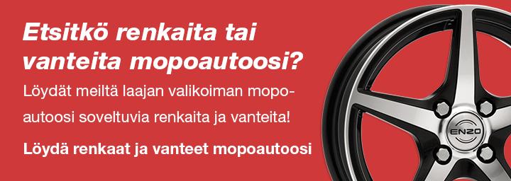 Etsitkö renkaita tai vanteita mopoautoosi?