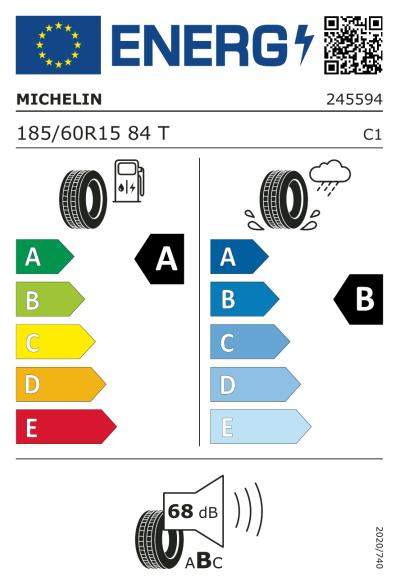 Eu-Märkning Michelin ePrimacy 185/60R15 84T