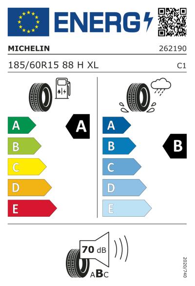 Eu-Märkning Michelin ePrimacy 185/60R15 88H XL