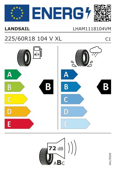 Eu-Märkning Landsail LS388 225/60R18 104V