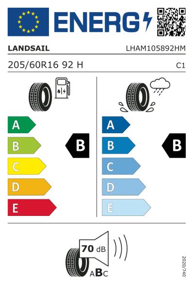 Eu-Märkning Landsail LS388 205/60R16 92H