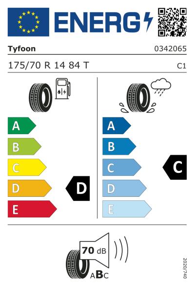 Eu-Märkning Tyfoon Connexion 2 175/70R14 84T