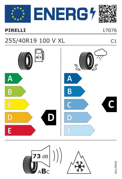 Eu-Märkning Pirelli Winter Sottozero 255/40R19 100V XL MO