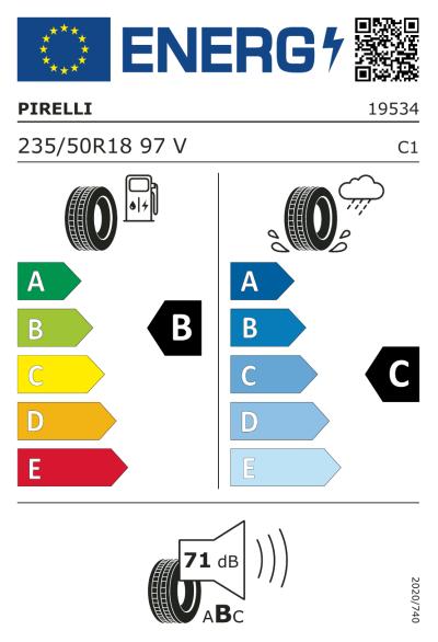 Eu-Märkning Pirelli Scorpion Verde All Season 235/50R18 97V
