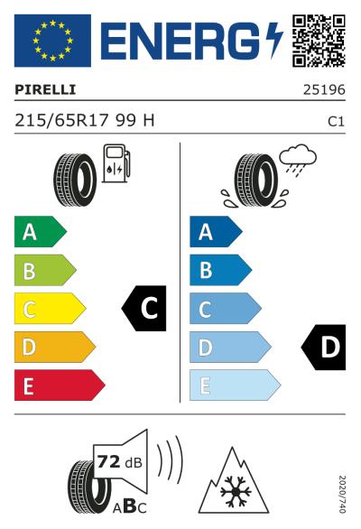 Eu-Märkning Pirelli Scorpion Winter 215/65R17 99H Seal Inside