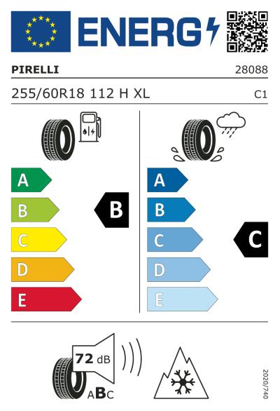 Eu-Märkning Pirelli Scorpion Winter 255/60R18 112H XL