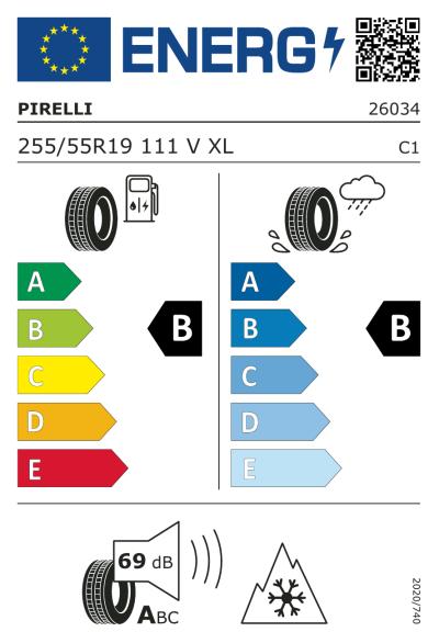 Eu-Märkning Pirelli Scorpion Winter 255/55R19 111V XL N0
