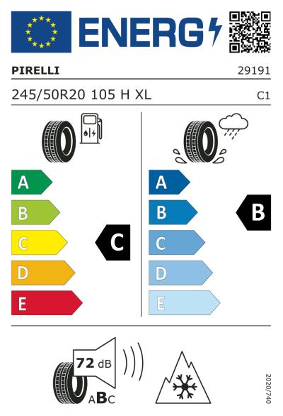 Eu-Märkning Pirelli Scorpion Winter 245/50R20 105H XL J
