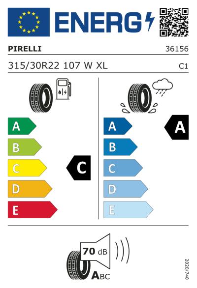 Eu-Märkning Pirelli P Zero All Season 315/30R22 107W XL