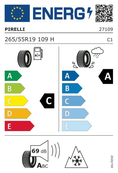 Eu-Märkning Pirelli Scorpion Winter 265/55R19 109H MO
