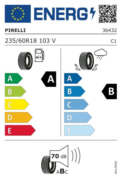 Eu-Märkning Pirelli Scorpion Verde 235/60R18 103V