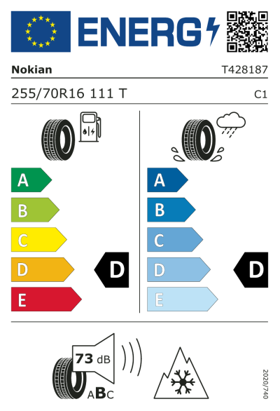 EU-merking Nokian Rotiiva AT 255/70R16 111T
